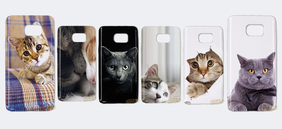 Etui ze zdjęciami kotów.