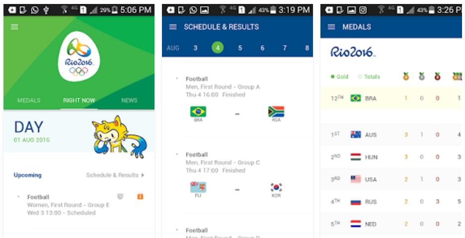 Aplikacja RIO 2016